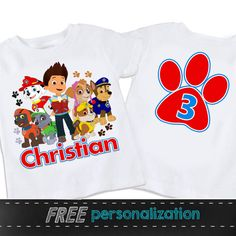 Paw Patrol New Personalized Birthday shirt with by swingNmonkeez