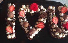 Hottest cake trend number and letter layer cakes perfect for Valentines Day by @cakedecowellingtonnz