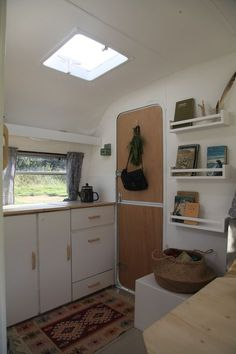 caravan living So, do you remember the vintage caravan we bought about a month and a half ago It seems like years ago! We were so excited to renovate . Retro Caravan, Diy Caravan, Vintage Caravan Interiors, Caravan Hacks, Caravan Living, Vintage Caravans, Rv Living, Vintage Campers, Caravan Ideas