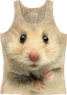 The Mountain - Hamster Face Women's Tank Top, $22.00 (http://shop.themountain.me/hamster-face-womens-tank-top/)