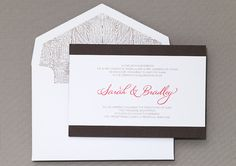 Entwined Wedding Invitation by honey-paper.com #wedding #naturewedding #b.t.elements Wood theme event