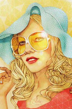 estate cappello occhiali