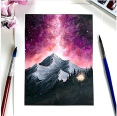 Amazing Art Painting - Here& a chart for your Friday! I wanted to work with warmer colors in Amazing Art Painting – Here& a chart for your Friday! I wanted to work with warmer colors in … Watercolour Painting, Painting & Drawing, Diy Painting, Creative Painting Ideas, Galaxy Painting Acrylic, Watercolor Galaxy Tattoo, Hope Painting, Simple Oil Painting, Winter Painting