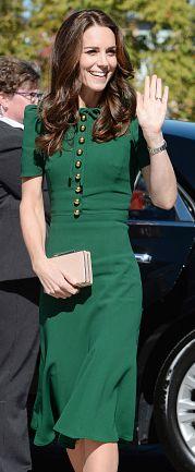 Dolce & Gabbana bottle green crepe midi tea dress