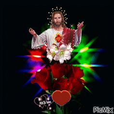 See the PicMix JESUS belonging to giurgead on PicMix. Jesus Love Images, Jesus And Mary Pictures, Pictures Of Jesus Christ, Love You Images, Image Du Christ, Image Jesus, Good Morning Friends Images, Cute Good Morning Images, St Michael Archangel Prayer