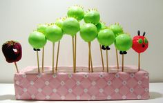 Very Hungry Caterpillar out of cake pops