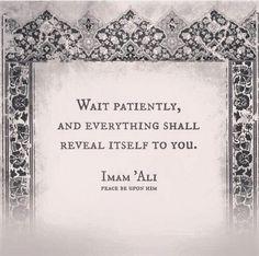 Islam is so beautiful MAULA A.S Səbr et və özü hər şey aşkar olacaq.
