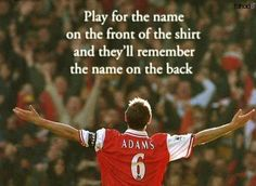 Tony Adams - Arsenal Legend!