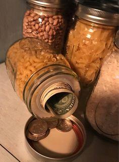 Secret Storage, Hidden Storage, Food Storage, Storage Jars, Canning Jar Storage, Jewelry Storage, Mason Jar Crafts, Mason Jars, Secret Hiding Places