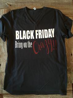 Black friday v-neck t-shirt
