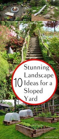 10 Stunning Landscape Ideas for a Sloped Yard Gardening, home garden, garden hacks, garden tips and tricks, growing plants, plants, vegetable gardening, planting fruit, flower garden, outdoor living