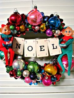 Vintage Over The Top Christmas Wreath Elf Fun by dimestorechic, $46.00