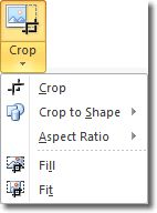 Crop to shape in Microsoft Word 2010