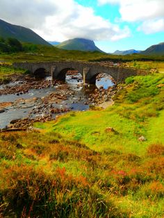 Sligachan Bridge, Isle of Skye, Scottish Highlands,Scotland, UK