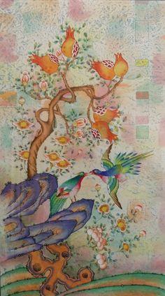 제6회 대한민국 전통채색화 공모대전 입상작과 특별 초대작가전 : 네이버 블로그 Fabric Painting, Painting & Drawing, Korean Crafts, Asian Flowers, Korean Painting, 1 Tattoo, Korean Art, Cartography, Paint Designs
