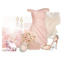 """Pink quartz"" by dgia on Polyvore"
