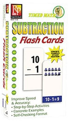 Timed Math Subtraction Flash Cards by Remedia Math Flash Cards, Math Subtraction, Traditional Flash, Math Skills, Design Show, Teacher Resources, Activities, Education, Learning