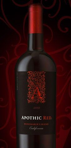 Apothic Red Wine. I LOVE this one.