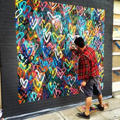 Group Art Projects, Collaborative Art Projects, Diy Projects, School Projects, Heart Projects, Project Ideas, Club D'art, Art Club, Classe D'art