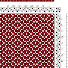 Hand Weaving Draft: 12 schäftig mit 12 Karten 68, Lehr-Methode der Weberei, Ferdinand A. Langewald, 3S, 3T - Handweaving.net Hand Weaving an...