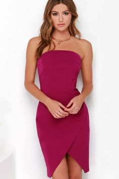 Magníficos vestidos sin tirantes para fiesta | Moda, vestidos y tendencias