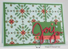 Nordic Noel Joy To You Christmas Card Nordic Noel DSP, Wondrous wreath framelits, Endless Wishes, Joanne James, Stampin' Up! UK Independent Demonstrator, blog.thecraftyowl.co.uk
