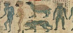 Mainstreammedien berichten ernsthaft über Reptilianer Creature Picture, Best Fiends, Japanese Water, Mini Monster, Demonology, Edo Period, Cryptozoology, Gnomes, Artist