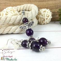 Ametiszt ásvány angyal nyaklánc fülbevaló szett (Arindaekszerek) - Meska.hu Beaded Bracelets, Jewelry, Fashion, Jewlery, Moda, Jewels, La Mode, Jewerly, Fasion