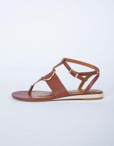 Golden Accent Sandals