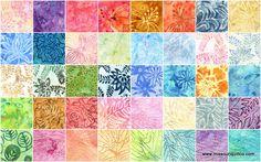 @Melissa McKenzie Grigg  Another one?  Bali Batiks - Lights Layer Cake - Benartex Fabrics - Benartex