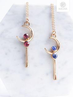 Ruby Crystal, Japanese Cartoon, Moon Necklace, Sailor Moon, Jewelery, Crystals, Anime, Gold, Bijoux