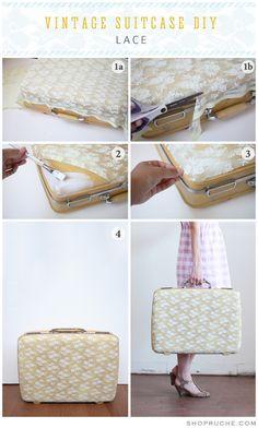 Lace Suitcase DIY