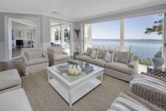 Beach Style Modular Homes Nc Beach Style Cottage Plans Hamptons Decor, Die Hamptons, Hamptons Style Homes, Hamptons Style Bedrooms, Hamptons Living Room, Hamptons Beach Houses, Beach Cottage Style, Beach House Decor, Coastal Style