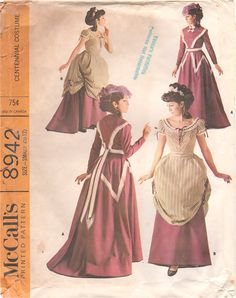 McCalls 8942 Misses 1800s CENTENNIAL COSTUME  PATTERN  Day and Evening womens vintage sewing pattern by mbchills