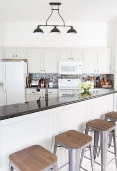 The Impatient-but-OCD Way to Paint Your Kitchen Cabinets, complete with a…