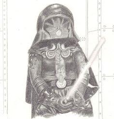 Dark Helmet by Ebell pencil on cardstock