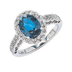 Gabriel & Co. - Sapphire & Diamond Ring in 14k White Gold (2.75 ctw)