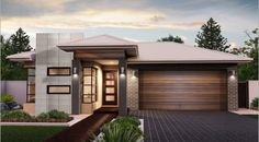 The Seville - the Metro Collection. Simple yet stylish this three bedroom home offers you a contemporary layout. You may even consider using the light filled front bedroom as a home office. #weeksbuilding #home #house #facade #design