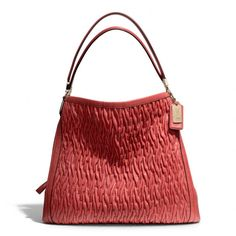The Madison Phoebe Shoulder Bag In Gathered Twist Leather from Coach  I absolutely LOVE texture in a bag . . . coupled with color, it's almost irresistable!