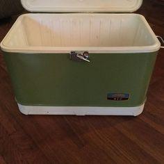 Vintage Retro Thermos Ice Chest Cooler RARE Green Deluxe Model Original Box | eBay