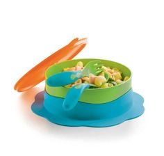 Tupperware Tcare Bowl & Soft Grip Cutlery