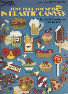 Plastic Canvas Pattern Junk Food Magnets by KnitKnacksCreations