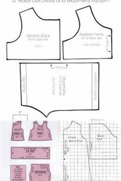 Free Printable Doll Clothes Patterns - Bing images by theresa idrees