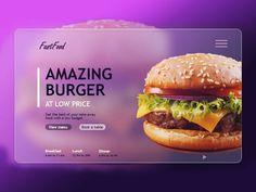 Web Ui Design, Page Design, Layout Design, Web Layout, Banner Design Inspiration, Website Design Inspiration, Maquette Site Web, Amazing Burger, Menu Book