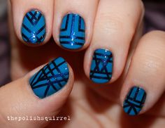 blue art deco
