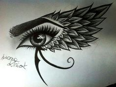 The cool and fun things to draw are of paramount importance and happily, a seed of creativity lies here, click above to feed your imagination. Body Art Tattoos, Tattoo Drawings, New Tattoos, Sleeve Tattoos, Cool Tattoos, Arabic Tattoos, Eye Of Ra Tattoo, Dragon Tattoos, Egyptian Eye Tattoos
