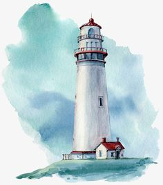 hand drawn watercolor lighthouse illustrstion – Buy this stock illustration and explore similar illustrations at Adobe Stock – Zeichnung Watercolor Pictures, Watercolor Drawing, Watercolor Landscape, Watercolor Print, Watercolor Illustration, Landscape Paintings, Hand Illustration, Arte Latina, Lighthouse Painting