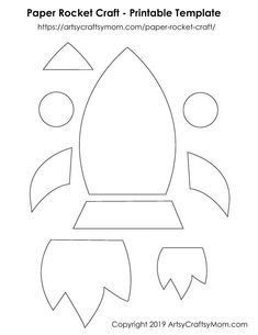 Teach your kids to dream big with the help of a Paper Rocket Craft that'll inspire them to chase their dreams & soar high! - Paper Rocket Craft for Kids + Free Printable Template Toddler Crafts, Preschool Crafts, Felt Crafts, Crafts To Make, Rocket Ship Craft, Paper Rockets, Rockets For Kids, Construction Paper Crafts, Craft Free