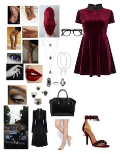 """""""🤓"""" by lumsdenk on Polyvore featuring Charlotte Tilbury, Matchless, ASOS, Accessorize, Forever 21, Topshop, Kiki Minchin, Alexander McQueen, Miss Selfridge and Givenchy"""