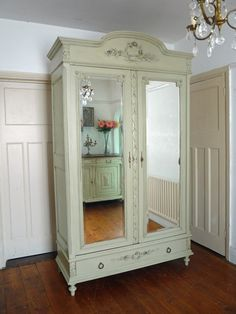 French Armoire Painted In Verd Antique By Fired Earth
